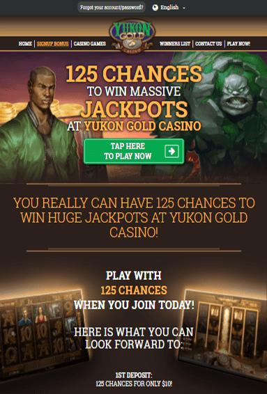 Yukon Gold Casino iOS & Android tablets