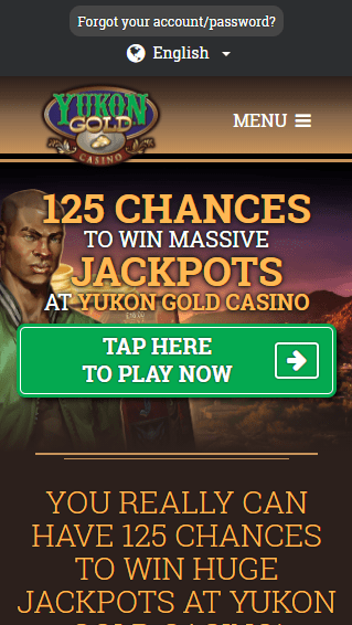Yukon Gold Casino iOS & Android mobile devices