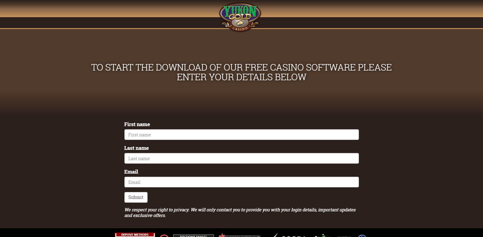 Yukon Gold Casino login