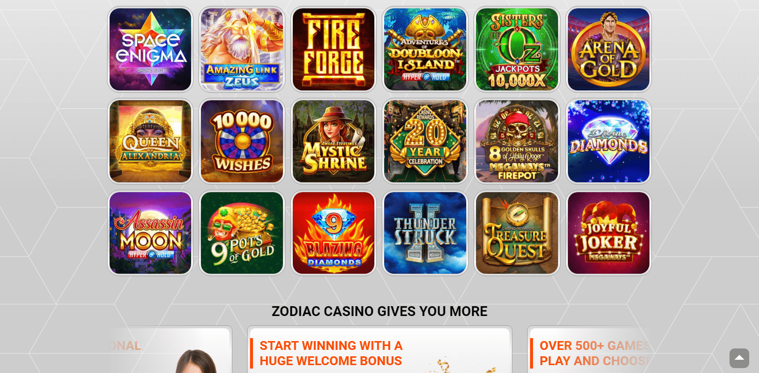 Zodiac Casino slots